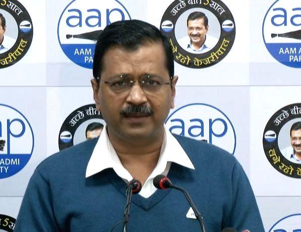 New Delhi: Delhi Chief Minister Arvind Kejriwal addresses a press conference in New Delhi on Jan 6, 2020.