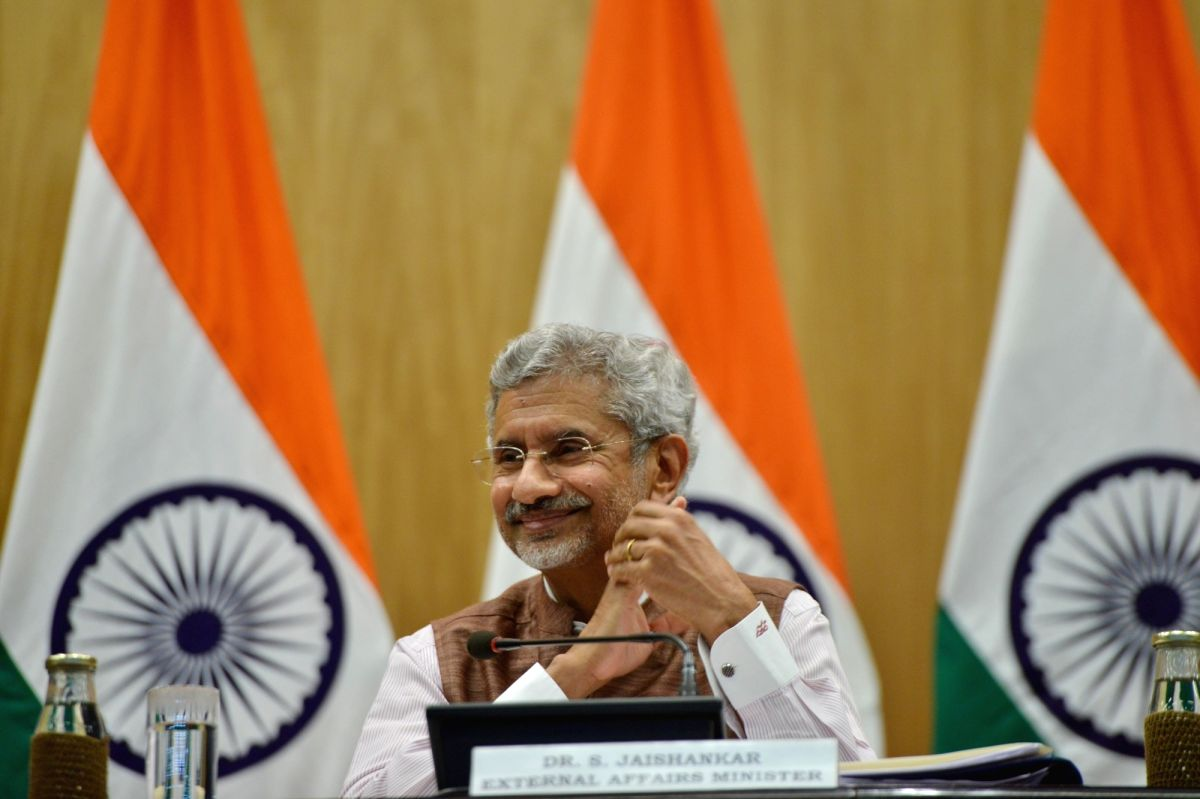 New Delhi: External Affairs Minister S. Jaishankar during a press conference on 100 days of Government, in New Delhi on Sep 17, 2019.