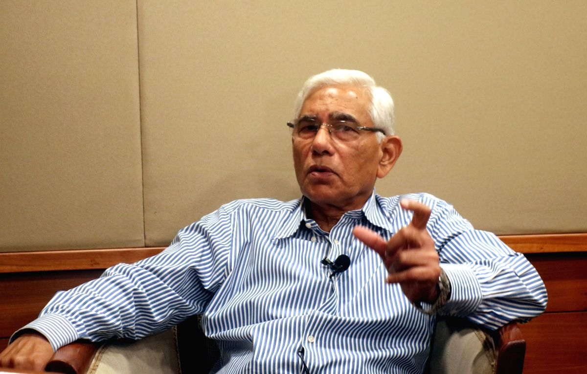New Delhi: Former Comptroller and Auditor General (CAG) of India Vinod Rai during an interview with IANS in New Delhi on Sep 11, 2019. (Photo: Bidesh MannaIANS)