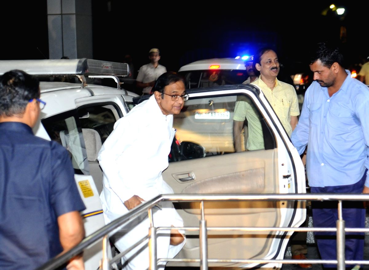 New Delhi: Former Finance Minister P. Chidambaram arrives at Enforcement Directorate (ED) office in connection with the money laundering case relating to INX Media, in New Delhi on Oct 24, 2019.