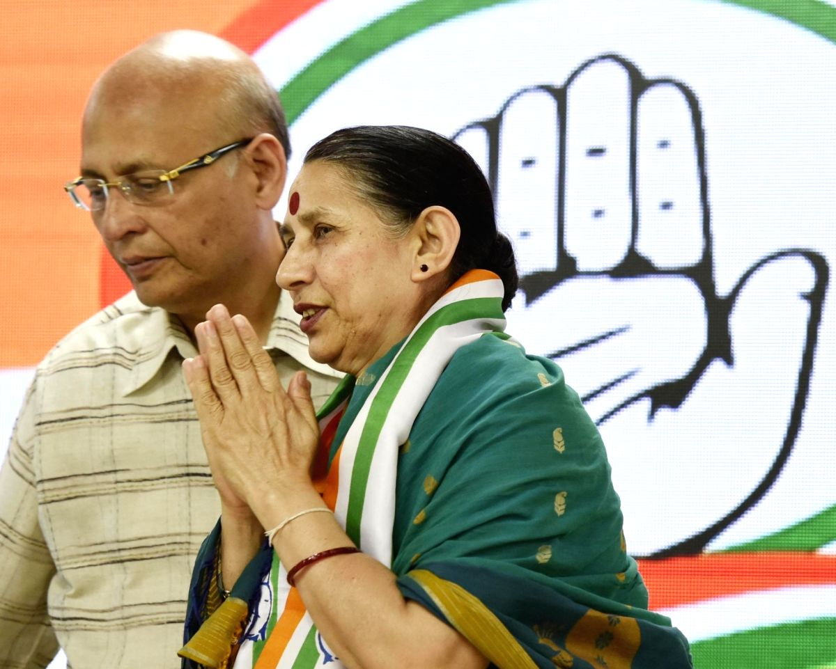 New Delhi: Former Union Minister Krishna Tirath rejoined the Congress after a gap of four years in New Delhi on April 12, 2019.