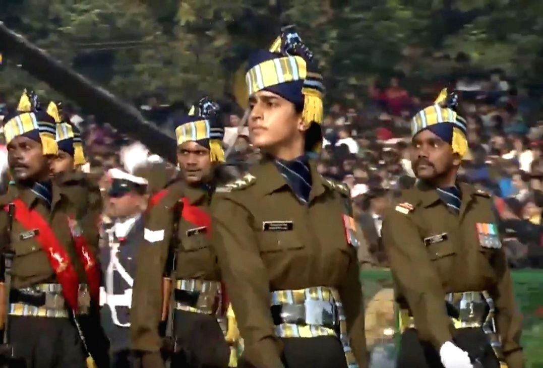 New Delhi: Indian Army's Captain Tanya Shergill leading the 71st Republic Day parade at Rajpath in New Delhi on Jan 26, 2020. Shergill, the parade adjutant, is the fourth generation officer. She broke the glass ceiling by becoming the first female