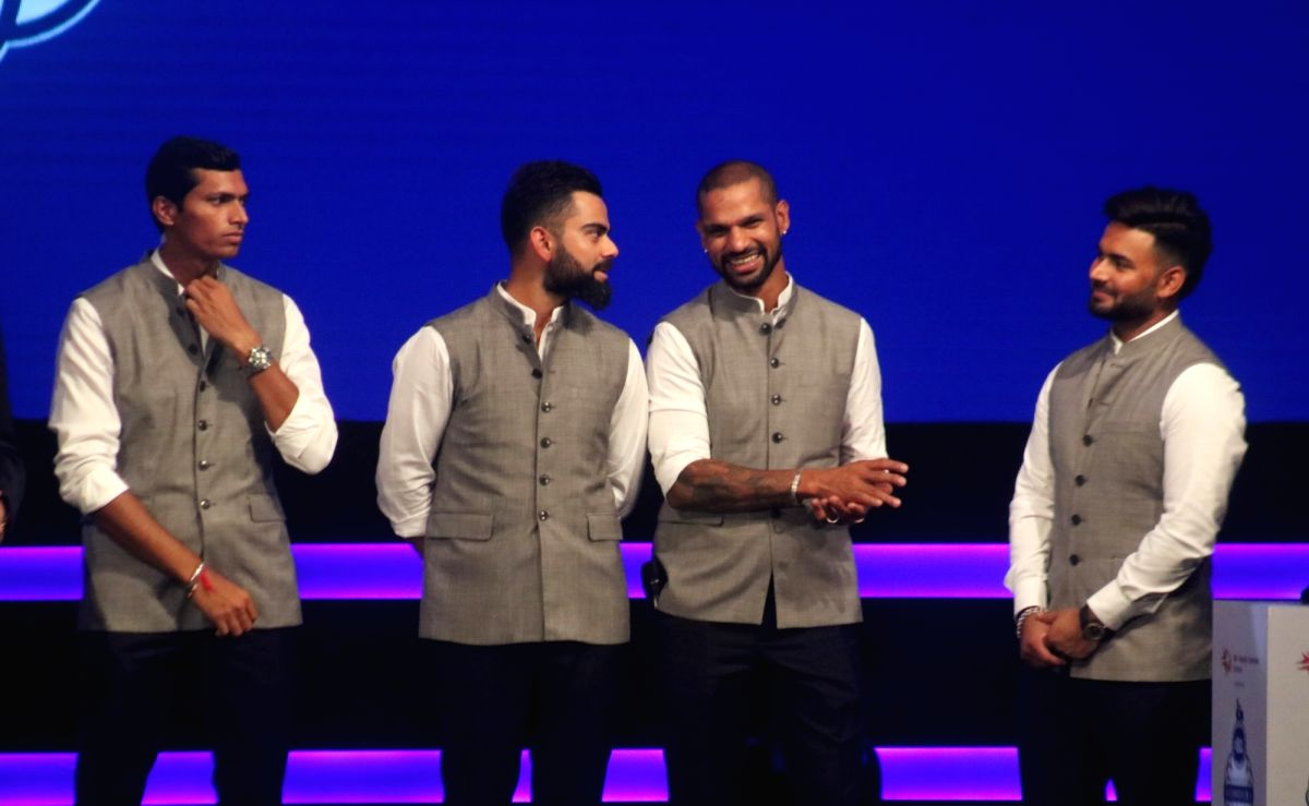 New Delhi: Indian skipper Virat Kohli, Shikhar Dhawan, Rishabh Pant and Navdeep Saini during inauguration of Arun Jaitley Cricket Stadium in New Delhi on Sep 12, 2019. Delhi and District Cricket Association (DDCA) renamed the Feroz Shah Kotla as Arun