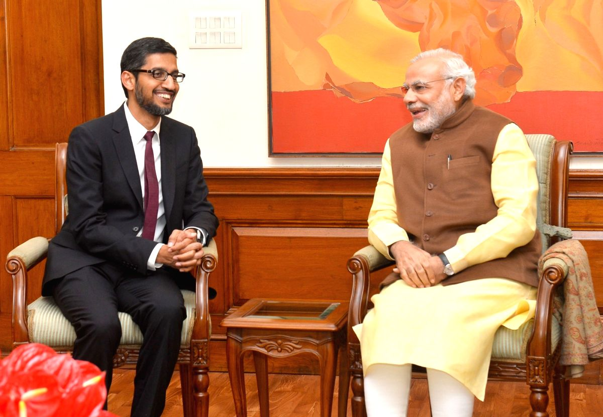 New Delhi, July 13 (IANS) Prime Minister Narendra Modi on Monday interacted with Google Chief Executive Sundar Pichai on a wide range of subjects, particularly leveraging the power of technology to transform the lives of India's farmers, youngsters a