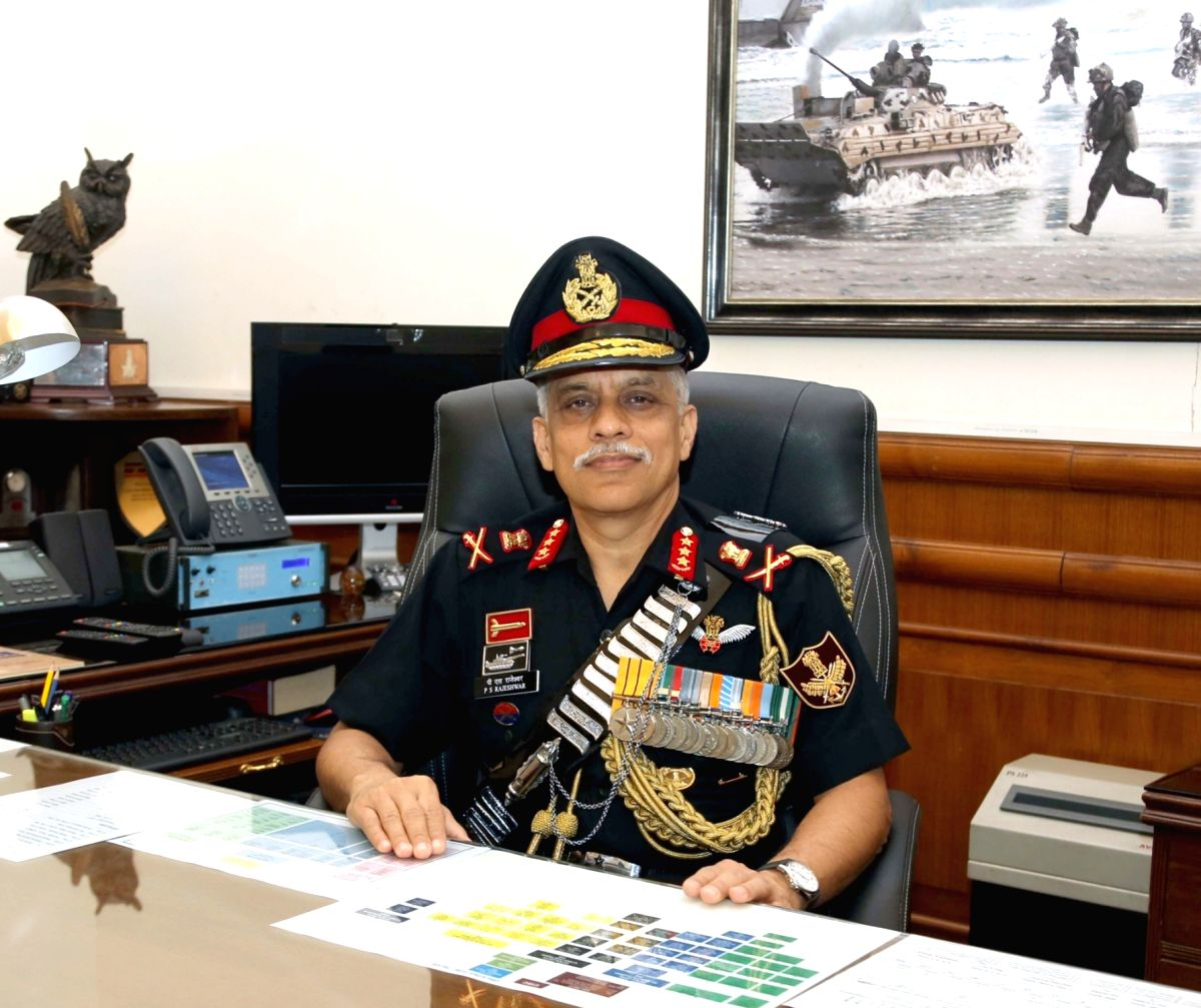 :New Delhi: Lt. Gen. P.S. Rajeshwar taking charge as the 12th Chief of Integrated Defence Staff to Chairman COSC, in New Delhi on Nov. 1, 2018. (Photo: IANS/PIB).