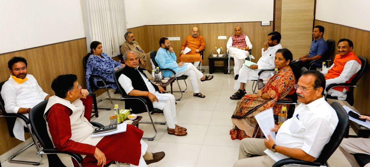 New Delhi, May 23 (IANS) A meeting of a Group of Ministers will take place at the residence of Defence Minister Rajnath Singh at 5 p.m. on Saturday. This is the second such meeting of the ministers in six days. The last one was held on May 18.