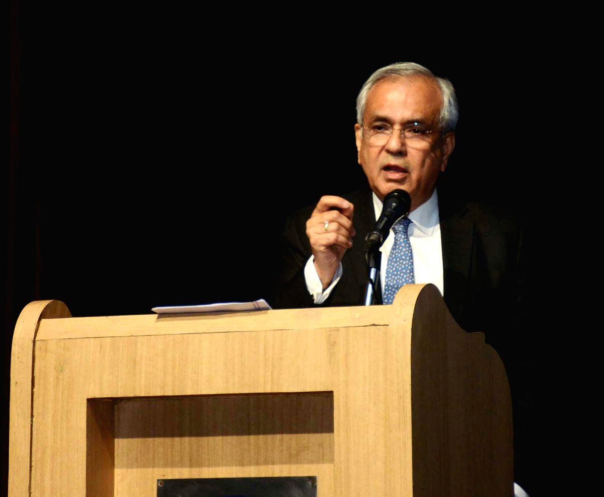 New Delhi: NITI Aayog Vice-Chairman Rajiv Kumar addresses at a conference on Future of Indian Banking, in New Delhi, on Feb 22, 2019. (Photo: IANS/PIB)