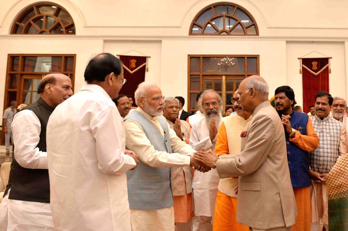 President Ram Nath Kovind, Vice President M. Venkaiah Naidu, Prime Minister Narendra Modi and Defence Minister Rajnath Singh