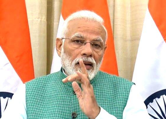 New Delhi: Prime Minister Narendra Modi gives his remarks on the interim budget 2019, in New Delhi on Feb 1, 2019. (Photo: IANS/BJP)