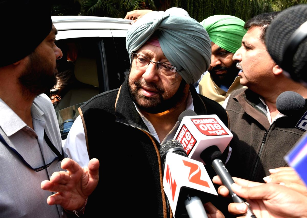 : New Delhi: Punjab Congress chief Capt Amarinder Singh arrives to meet party's vice president Rahul Gandhi in New Delhi on March 14, 2017. .