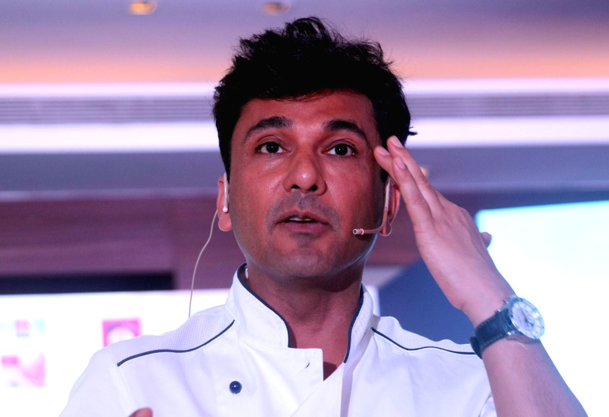 New Delhi:  Renowned Chef  Vikas Khanna during a promotional programme in New Delhi on April 20, 2017.