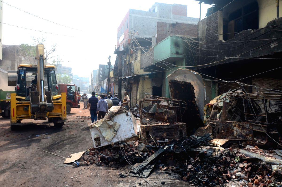 New Delhi: Scenes of devastation after the riots in North East Delhi's Brijpuri, on Feb 28, 2020.