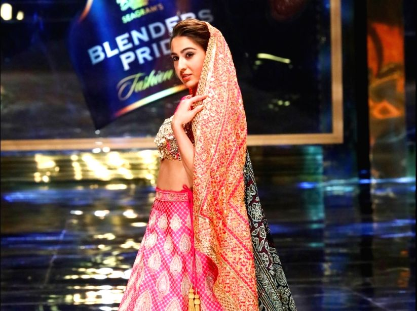 Sara Ali Khan walks the ramp at the 15th edition of the Blenders Pride Fashion Tour 2019-20
