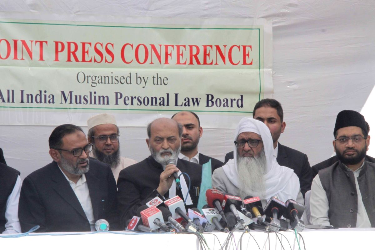 New Delhi: Sunni Waqf Board lawyer Zafaryab Jilani addresses during a joint press conference by the All India Muslim Personal Law Board on the Supreme Court verdict, in New Delhi on Nov 9, 2019. The apex court ruled to give the disputed land in Ayodh