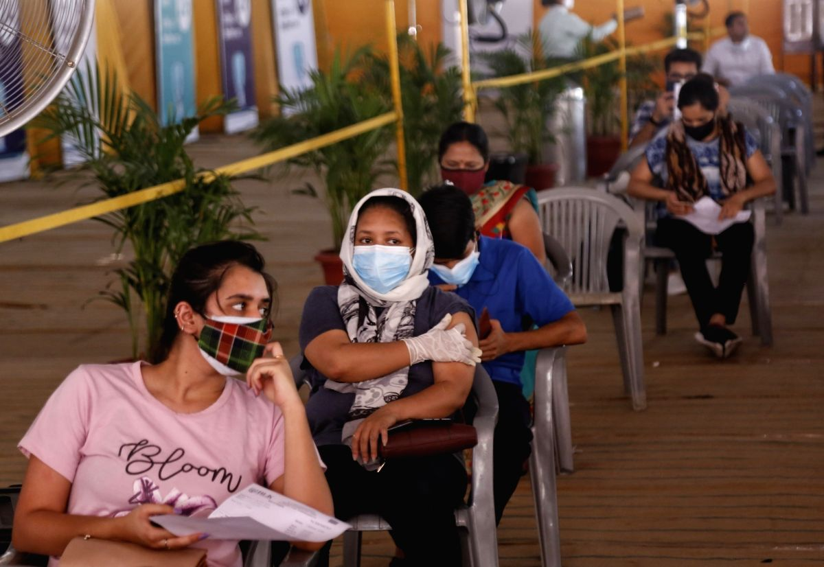 New Delhi : The BLK-Max Super Speciality Hospital in Delhi opened one of the largest vaccination centres at the Radha Soami Satsang Beas in the capital city's Pusa Road. People above 18 years were seen waiting for their turn to get vaccinated at the
