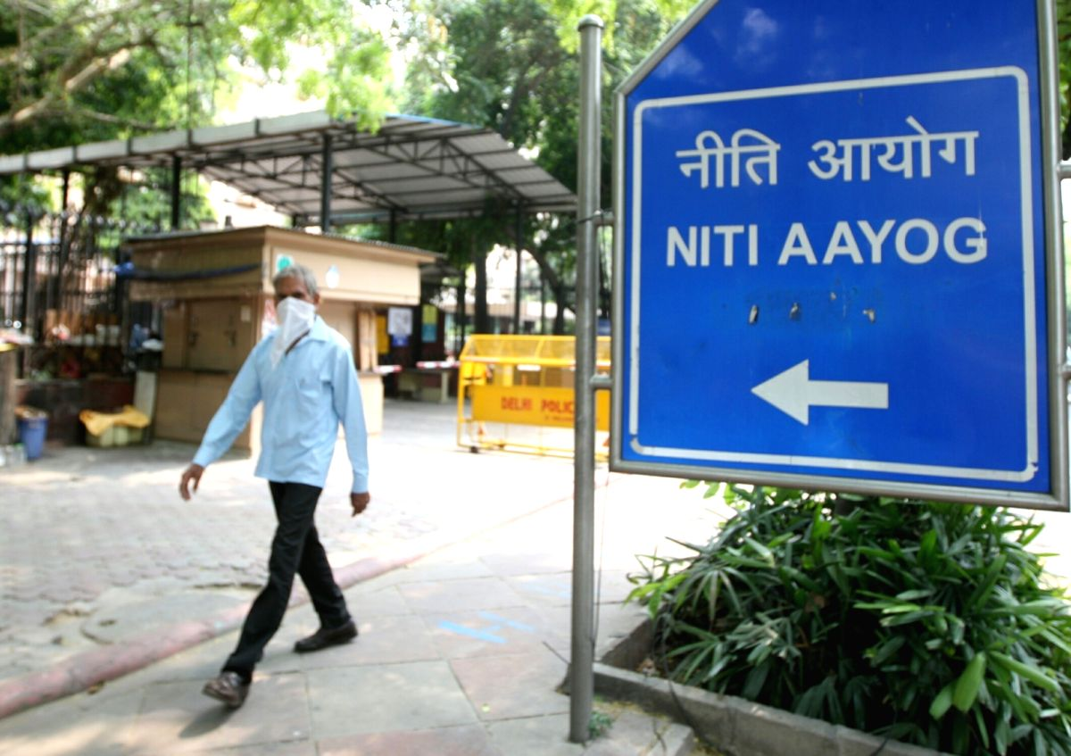 New Delhi: The NITI Bhavan that has been sealed as a precautionary measure to contain the spread of the coronavirus pandemic after a senior official of the Niti Aayog tested positive for COVID-19 in New Delhi during the extended nationwide lockdown i