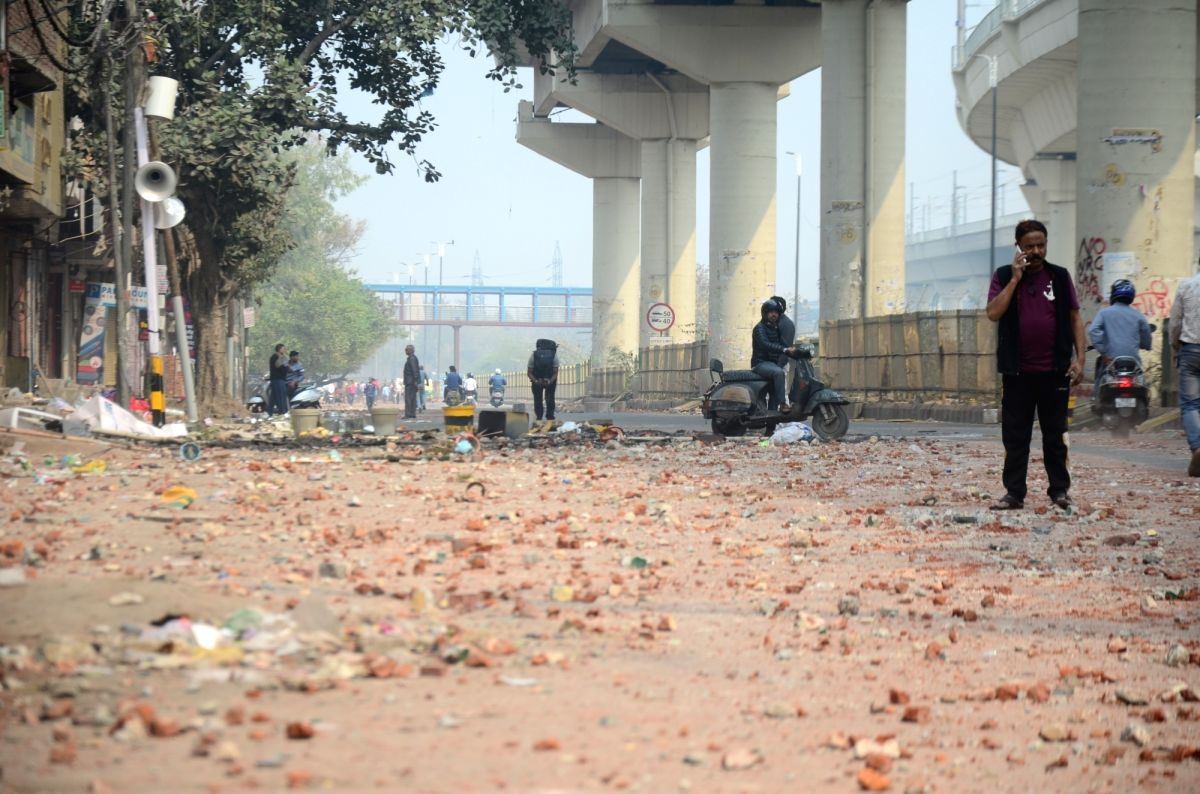 New Delhi: The public were seen on the normal roads after the riots at Maujpur Babarpur in New Delhi on Feb 26, 2020.
