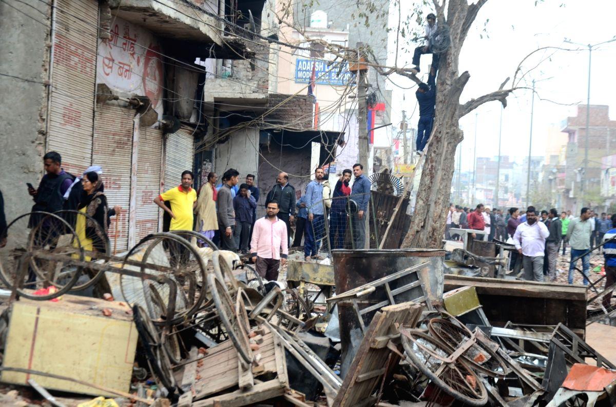 New Delhi: The public were seen on the normal roads after the riots in North East Delhi's Khajuri Khas on Feb 27, 2020.
