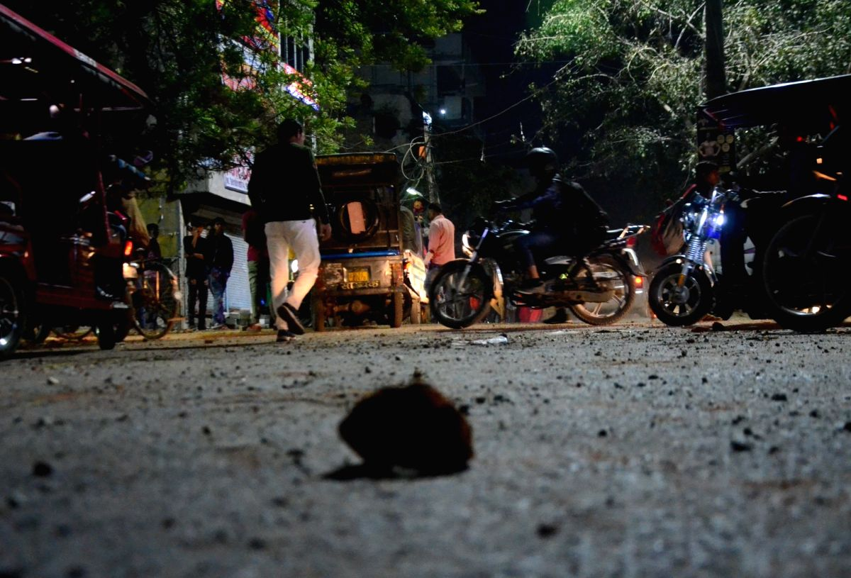 New Delhi: The site at Maujpur in east Delhi where sporadic incidents of stone pelting between anti and pro-CAA groups broke a relative lull in tension over the contentious Citizenship Amendment Act, on Feb 23, 2020. Maujpur is near Jaffrabad, where