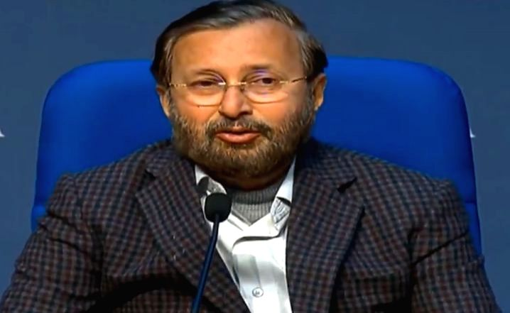 New Delhi: Union Environment, Forest and Climate Change and Information and Broadcasting Minister Prakash Javadekar briefs the media on various Cabinet decisions, in New Delhi on Jan 29, 2020. (Photo: IANS/PIB)