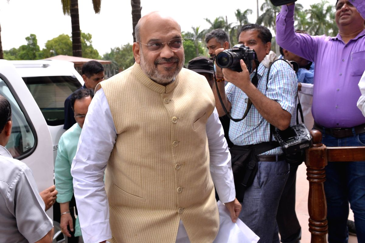 New Delhi: Union Home Minister Amit Shah at Parliament, in New Delhi on July 10, 2019.