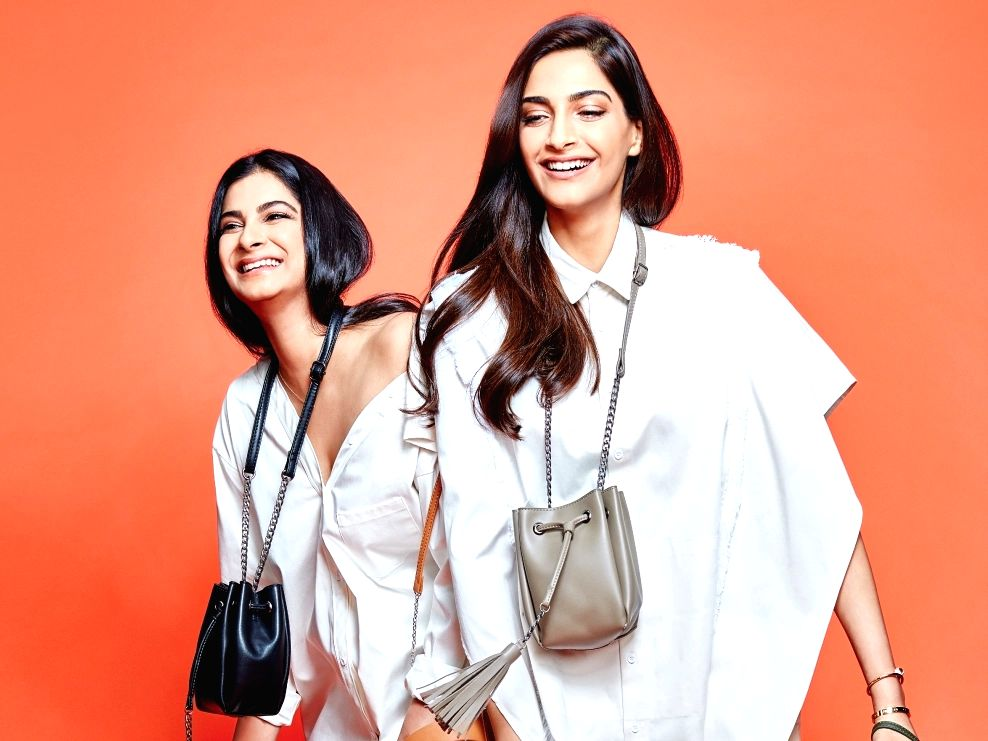 Actress Sonam Kapoor with her sister Rhea Kapoor
