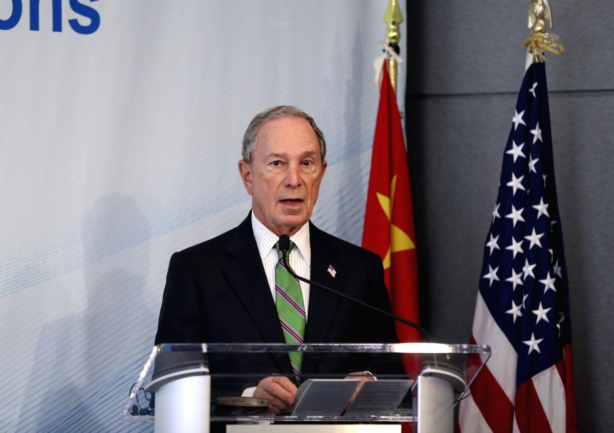 NEW YORK, June 14, 2017 (Xinhua) -- Former New York City mayor Michael Bloomberg delivers a speech at the High-level Dialogue on U.S.-China Economic Relations in New York, the United States, on June 14, 2017. More than 30 scholars from leading think-