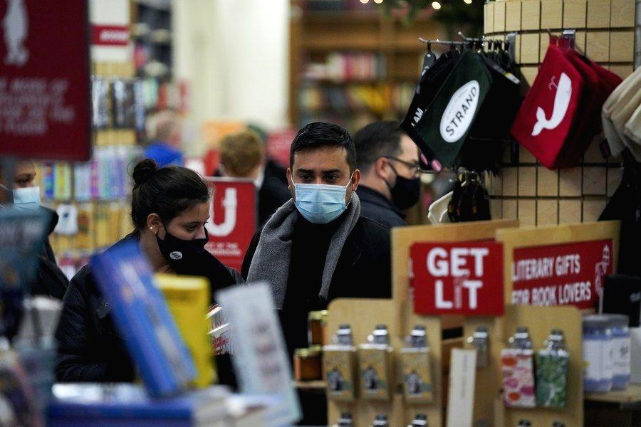 New York, Nov. 06 (Xinhua) --  Customers choose books at Strand bookstore in New York, the United States, on Nov. 1, 2020. (Xinhua/Wang Ying/IANS)