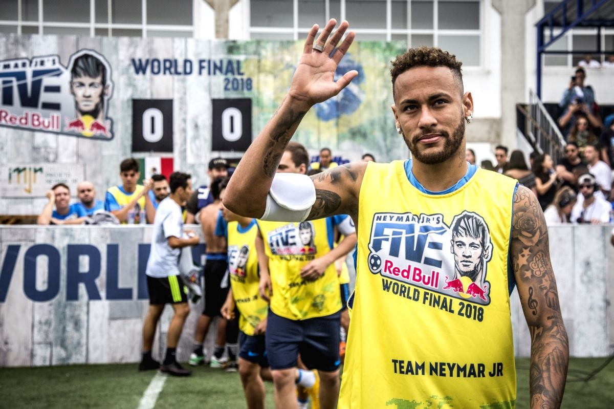 Neymar Da Silva Santos Junior seen at Neymar Jr's Five World Final 2018.