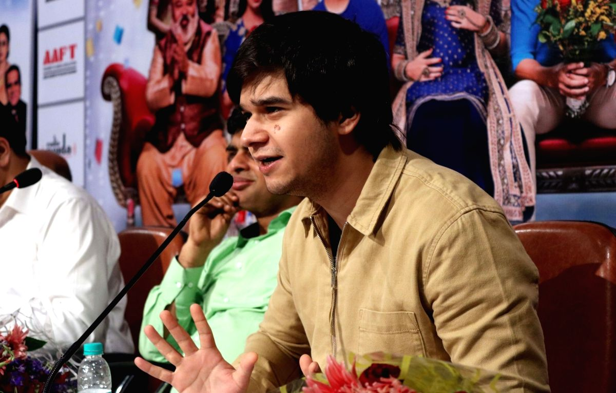 "Noida: Actor Vivaan Shah during a press conference organised to promote his upcoming film  ""Laali Ki Shaadi Mein Laaddoo Deewana"" in Noida, on April 3, 2017."
