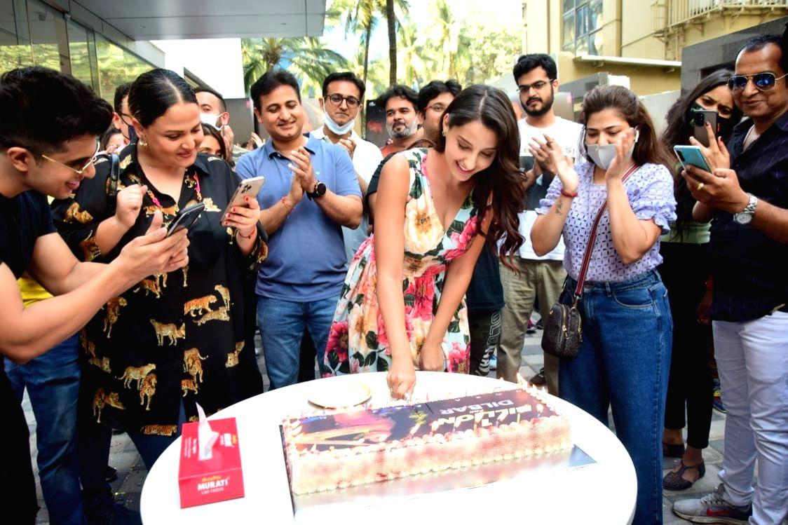 Mumbai: Nora Fatehi celebrates 1 Billion + views for DILBAR DILBAR on Saturday 06th March, 2021.