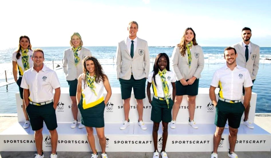 Olympics: Aussie team unveils uniforms for opening ceremony