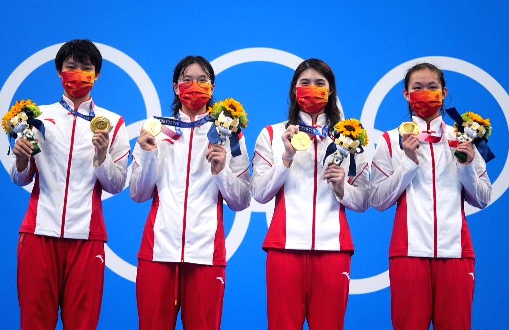 Olympics: China shatters world record to win women's 4x200m freestyle relay.