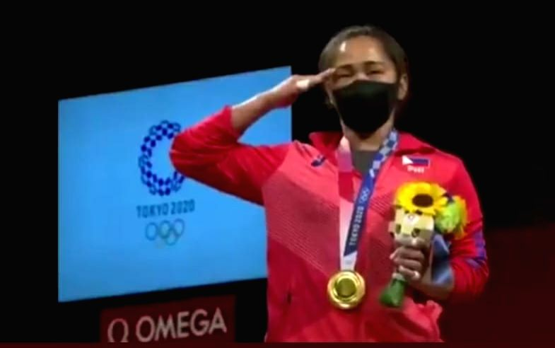 Olympics: Weightlifter Hidilyn breaks Philippines' gold medal drought.