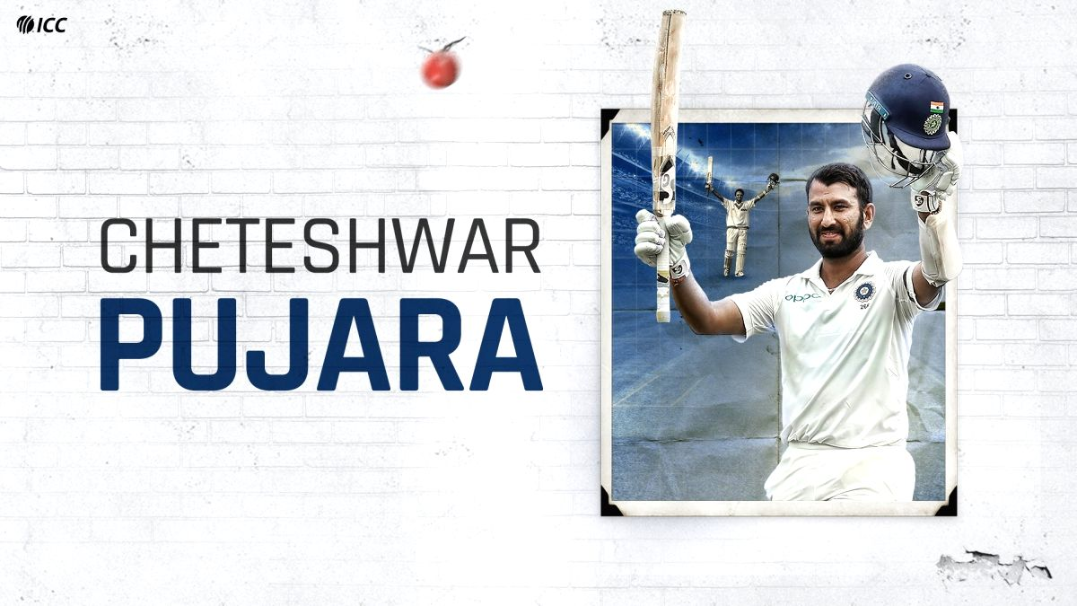 One of the grittiest batters in the game, Pujara turns 33.(photo:Twitter ICC)