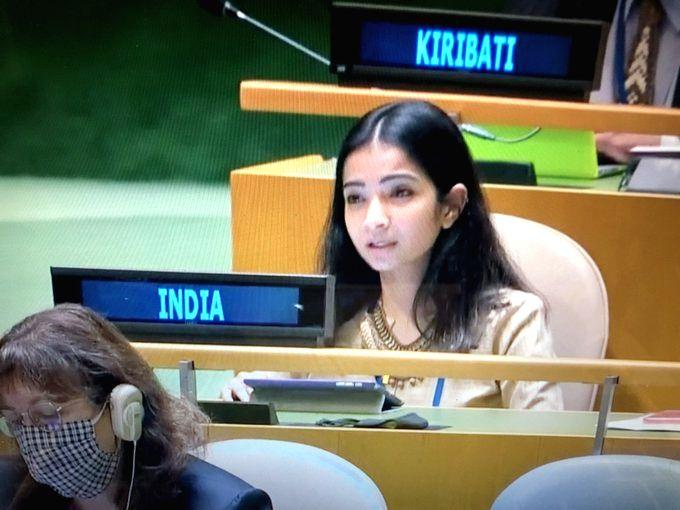 Pakistan supporter of terrorists, suppressor of minorities, says Sneha Dubey, a first secretary in India's UN Mission.(photo:twitter)