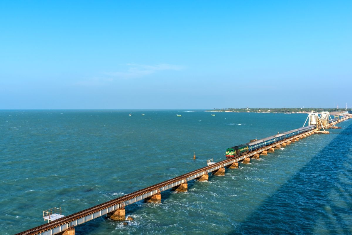Pamban Bridge, Rameshwaram ,Tamil Nadu, India