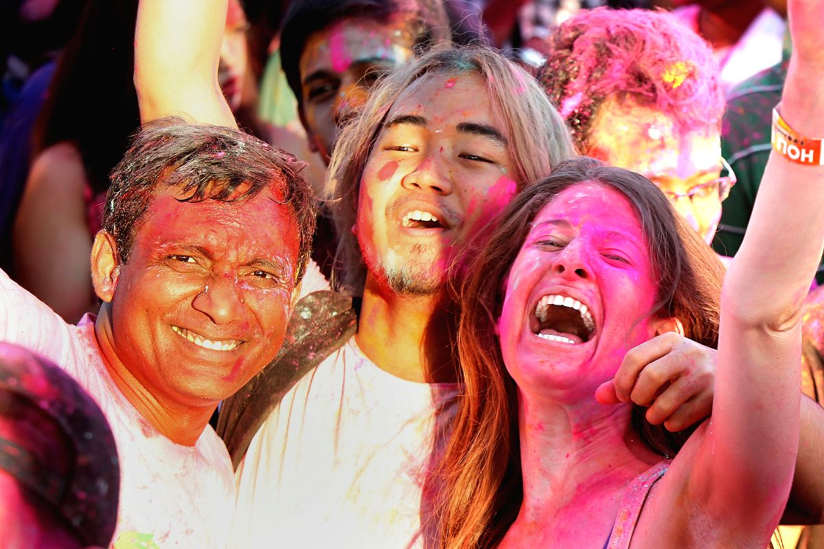 PASAY CITY - People celebrate the Holi Festival in Pasay City, the Philippines.