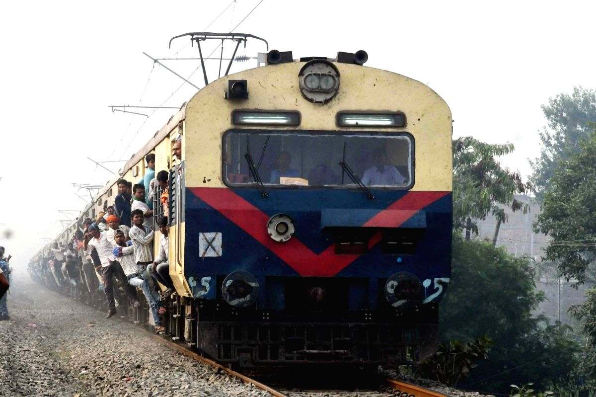 Patna: A local train plies in Patna on Feb 1, 2020. Finance Minister Nirmala Sitharaman announced in her Union Budget presentation that Kisan Rail, a special refrigerated rail service, under private-public-partnership, will be launched for speedy tra