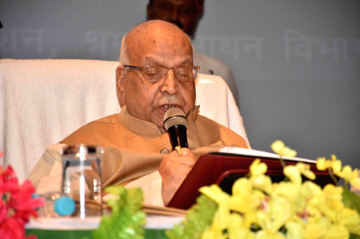 Patna: Bihar Governor Lalji Tandon addresses during a programme organised on 'World Youth Skills Day', in Patna on July 15, 2019.