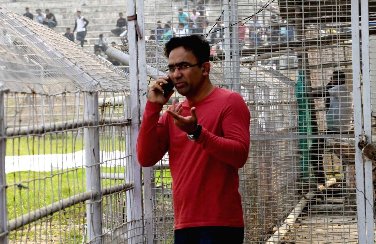 Patna: Former cricketer Saba Karim during a Ranji Trophy match between Sikkim and Bihar at Moin-Ul-Haq Stadium in Patna, on Nov 30, 2018.