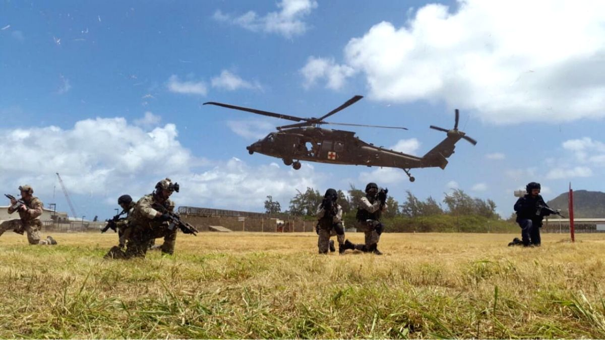 Personnel of NSG and US Forces during a joint military exercise. (File Photo: IANS)