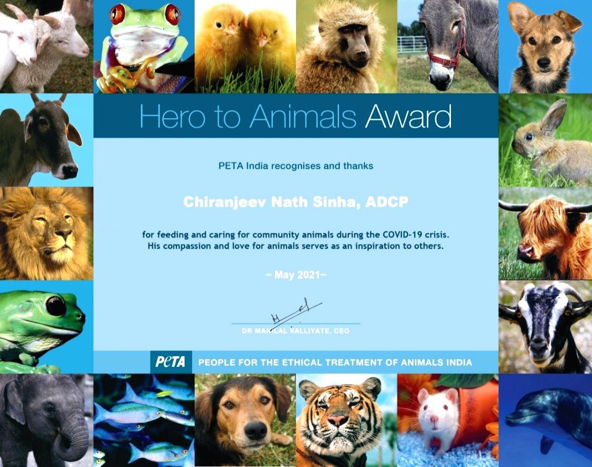 PETA award for UP police officer.