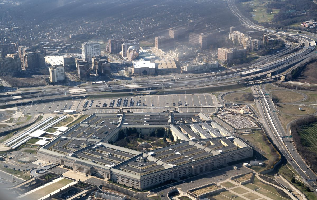 Photo taken on Feb. 9, 2020 shows the Pentagon seen from an airplane over Washington D.C.