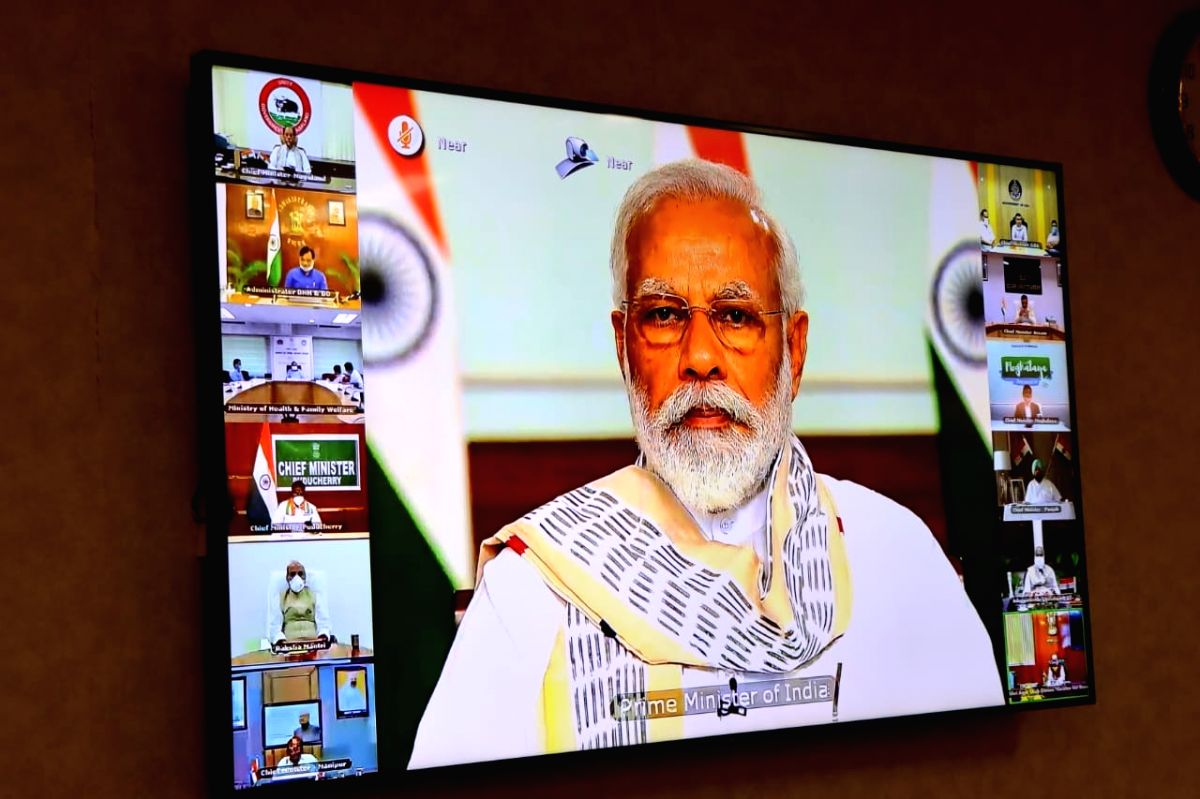 PM's 6th video conference with CMs gets underway.
