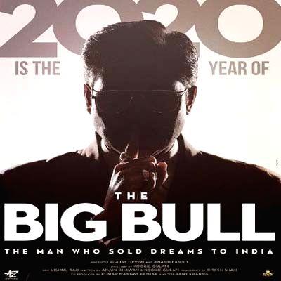"Poster of Abhishek Bachchan starrer ""The Big Bull""."