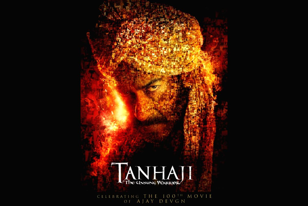 """Poster of the upcoming Ajay Devgn starrer """"Tanhaji: The Unsung Warrior"""""""