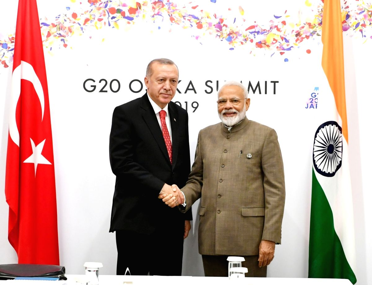Prime Minister Narendra Modi and Turkish President Recep Tayyip Erdogan. (Photo: IANS/PIB)