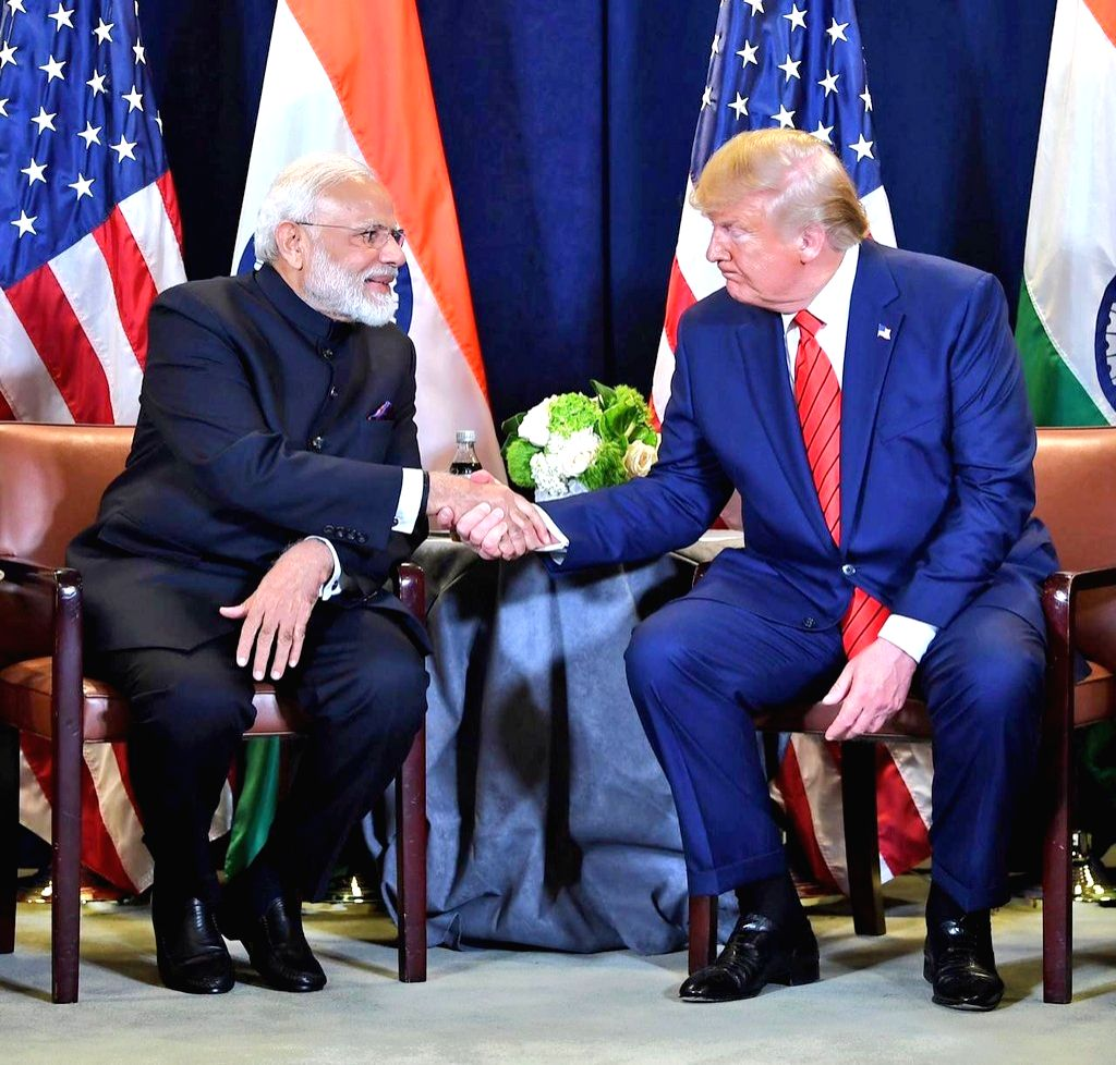 Prime Minister Narendra Modi and US President Donald Trump during a meeting on the sidelines of the UNGA74 at United Nations on Sep 24, 2019. (Photo: IANS/MEA)