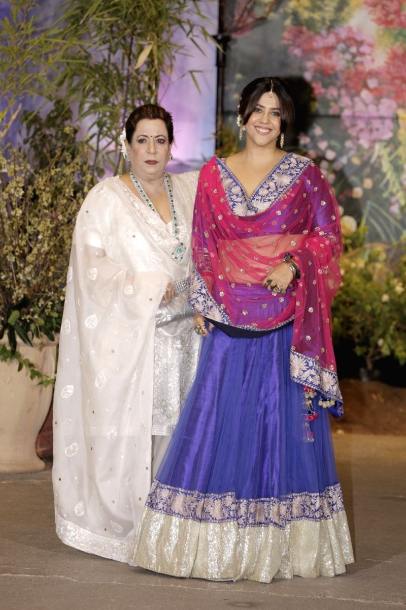 Ekta with Mommy at the Reception!